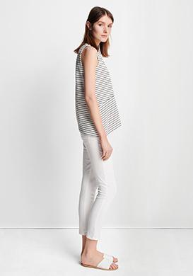 White Stripe Look