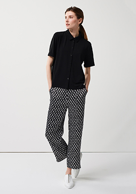 Casual Black Blouse