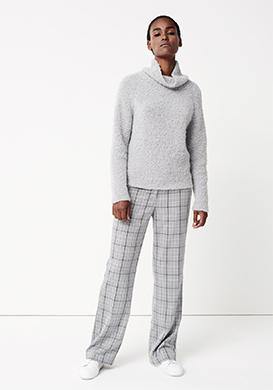 Grey Checked Look