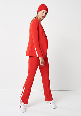 Red Statement Look