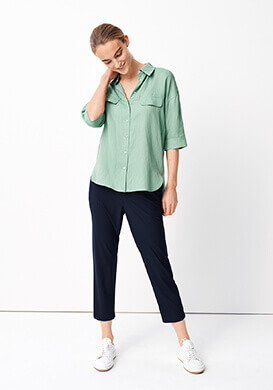 Green Oversize Blouse