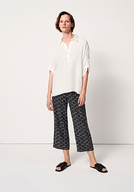 white oversize blouse