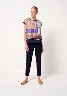 New print blouse