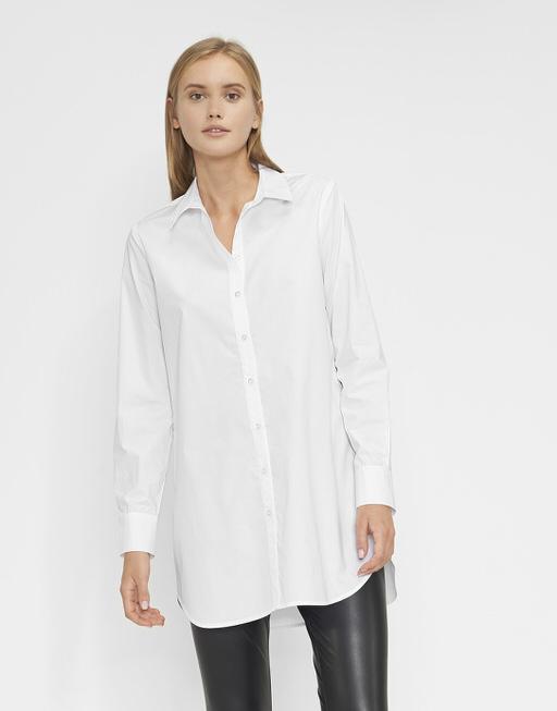 Longbluse Fino white