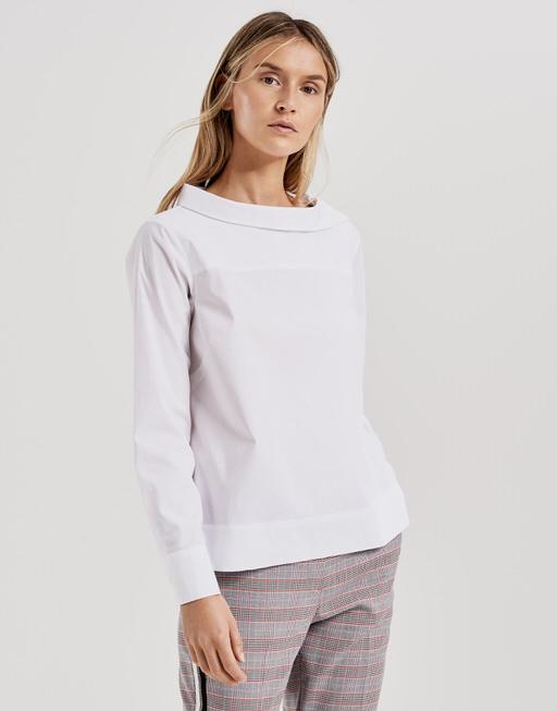 Shirt blouse Feonie solid white