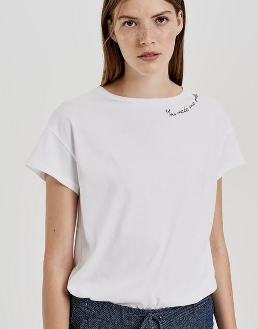 Motiv Shirt Sticky white