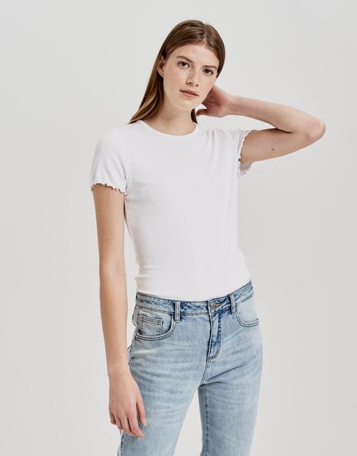 Rundhals Shirt Sumania white