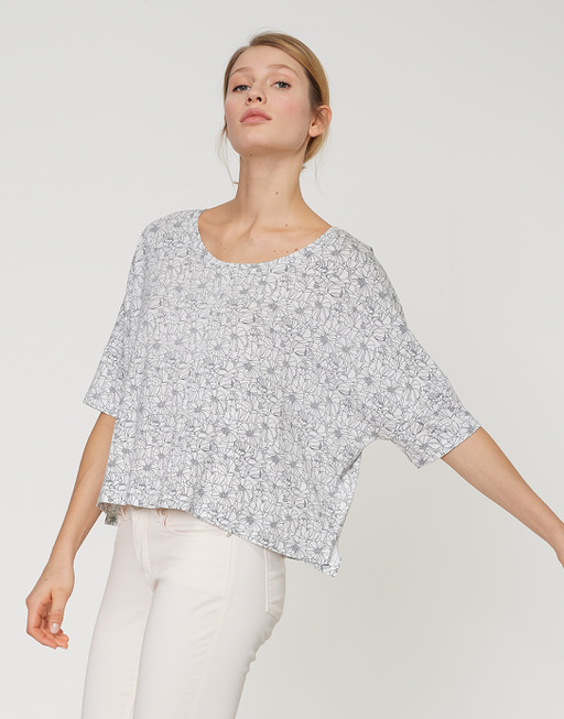 Shirt met print Sulika flower milk
