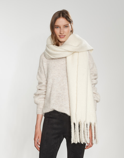 Oversized scarf Aflisa scarf white by OPUS   shop your favourites online d69ca87b613e