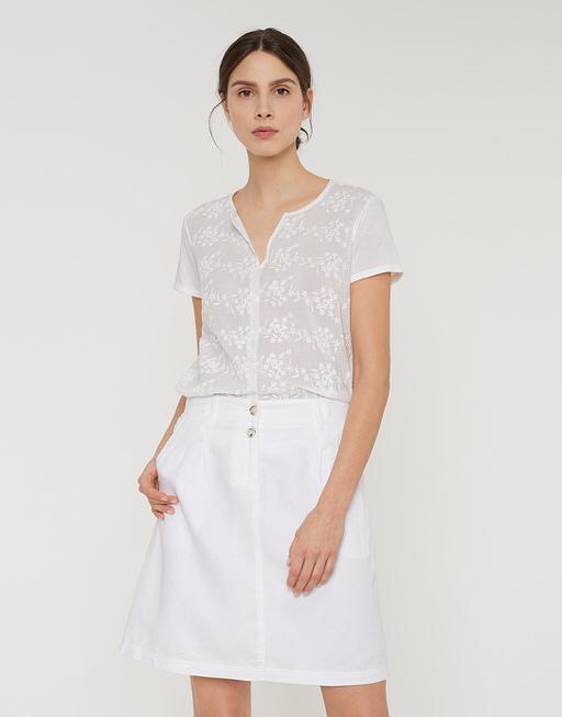 witte linnen rok