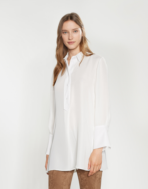 Lange blouse Ferle milk