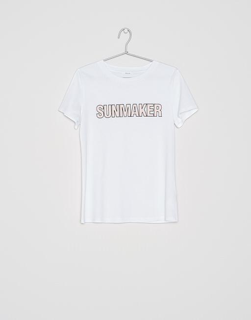 Shirt met print Santasta print HS milk