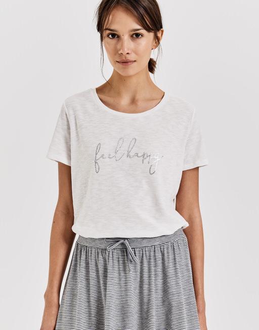 Shirt met ronde hals  Soi print milk