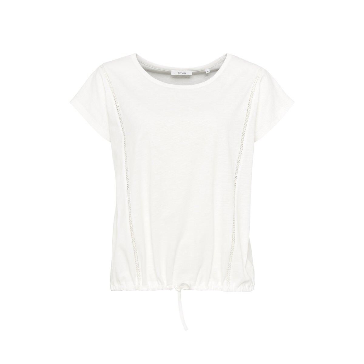 Artikel klicken und genauer betrachten! - Das Shirt aus einer weichen Baumwoll-Qualität überzeugt durch den sportlichen Fit. Der Gummizug mit einem Binde-Detail unterstreicht die Sportivität. Das feminine Spitzen-Detail rundet den Look ab. Baumwoll-Ware, Spitzen-Detail, Gummizug am Saum, Flammengarn, überschnittene Schultern, das Model ist 177 cm groß und trägt Größe 36. | im Online Shop kaufen
