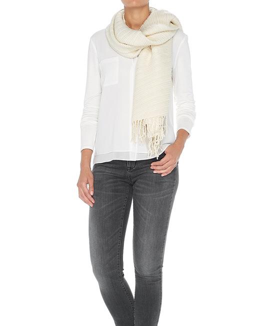 Schal Apleated scarf  soft cream
