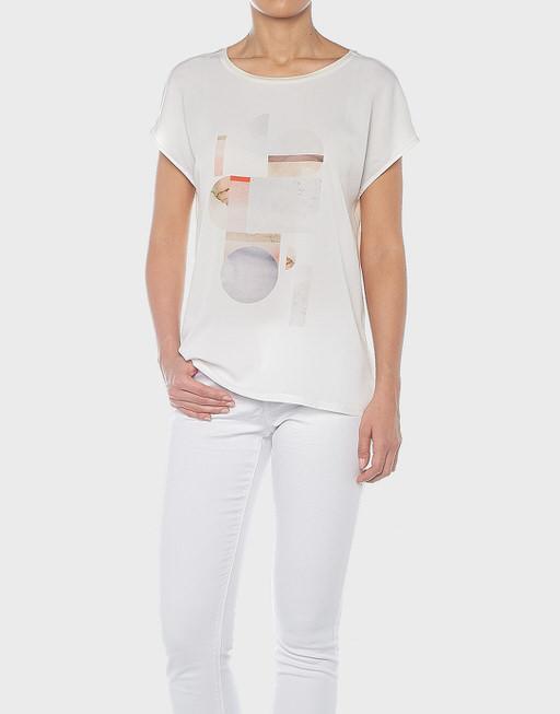 Motiv Shirt Smarbel print sweet cream