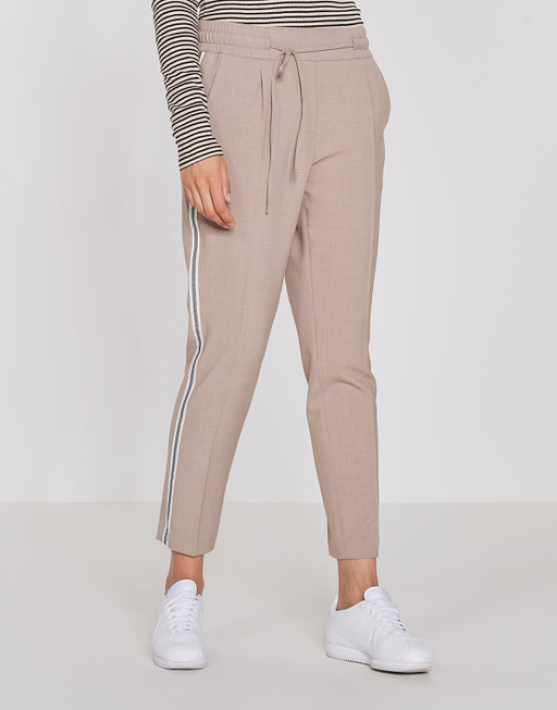 Business trousers Melosa single stripe warm sand