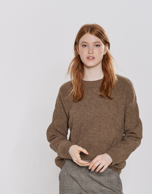 Knitted jumper Pebby warm sand