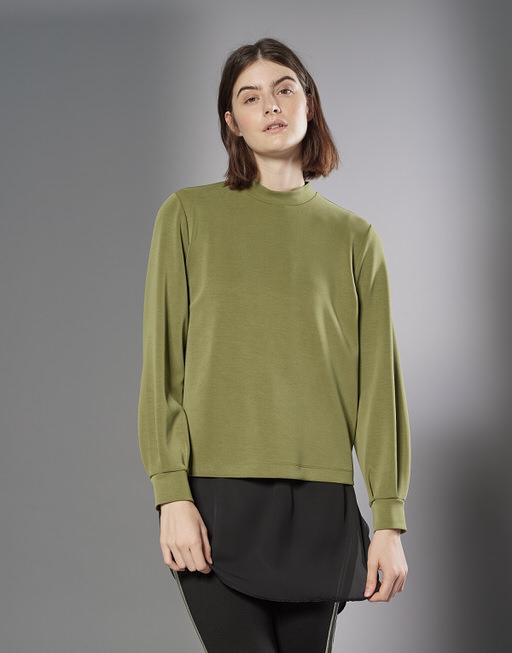 Sweatshirt Grazina shiny pea