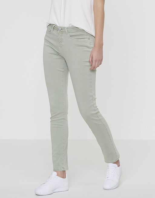 Trousers Emily light satin linden tree