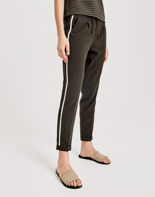 Business trousers Melosa pin oliv green