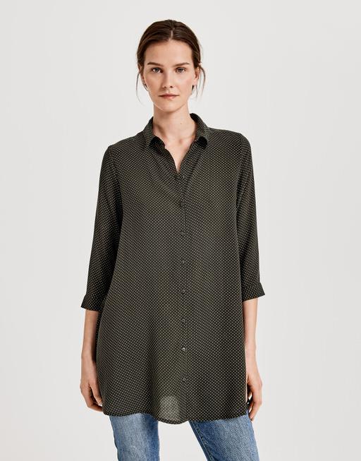 Lange blouse Florenze oliv green