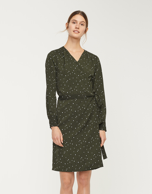 Wickelkleid Waris oliv green