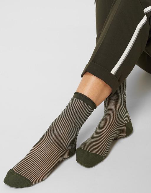 Socke Yasmi oliv green