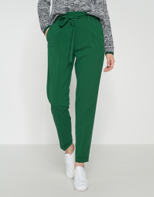 Pleated trousers Enchi greenery
