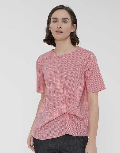 Shirtbluse Floraine vichy OPUS Rabatt Angebot DzfSSTO