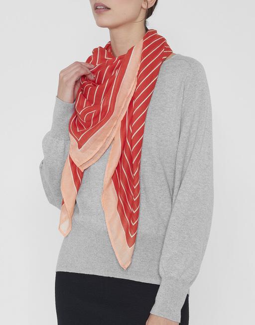 Streifenschal Aquadria scarf poppy red
