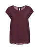 Shirtbluse Fjelmi spotted HS red wine