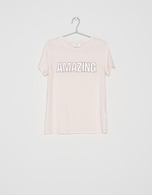 Shirt with print Santasta print HS shade of rose