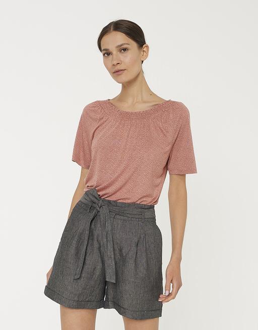 Shirt met print Sanni speckle primrose