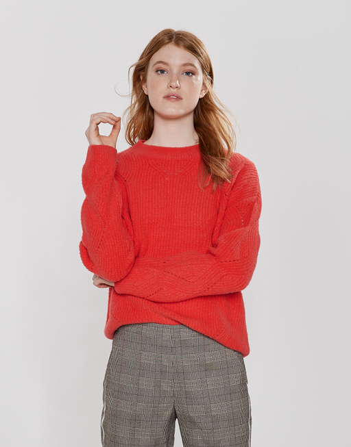 Strickpullover Pebby darling red