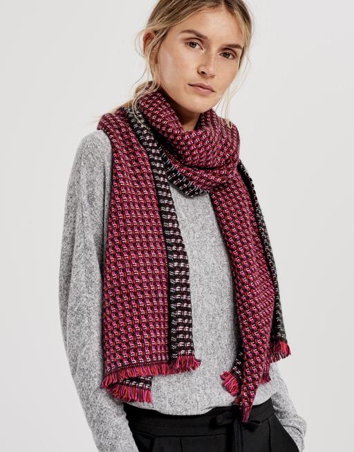 Sjaal Acoco scarf dark beetroot