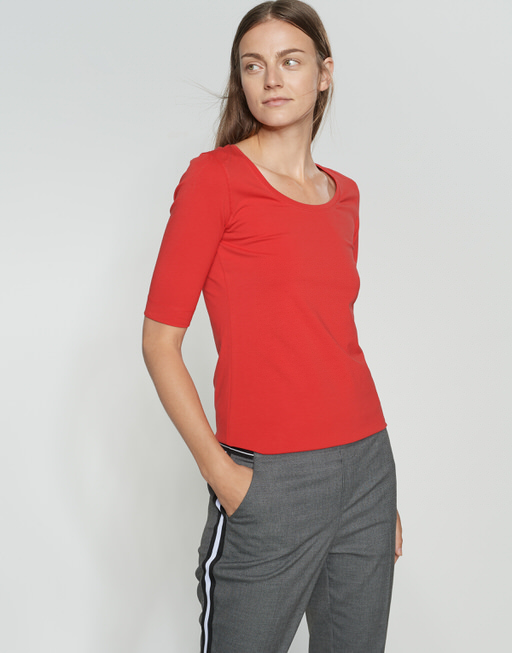 Basicshirt Sanika true red