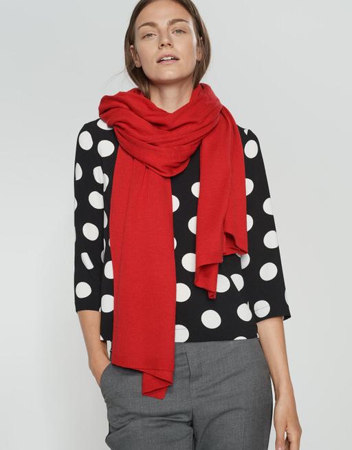 Wollschal Acasha scarf true red