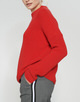 Baumwoll Pullover Parto true red