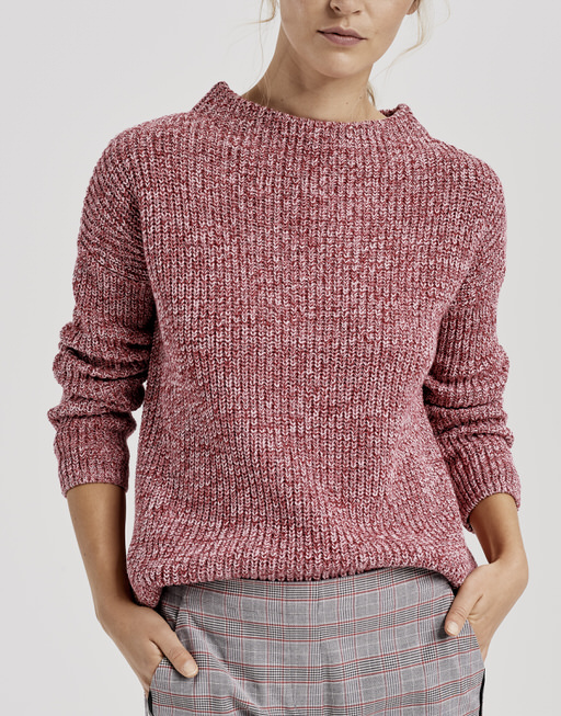 Knitted jumper Parto mouline true red