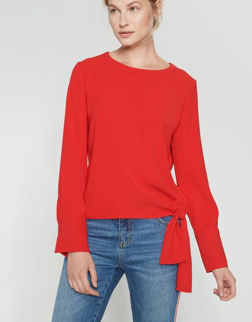 Shirtbluse Flota true red