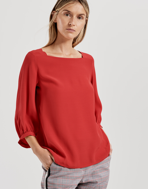 Bluse Farrie true red