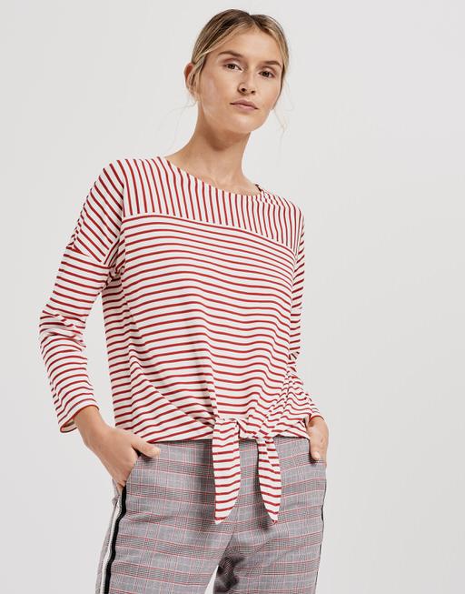 Stripe shirt Siplak true red