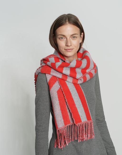 Streifenschal Adiami scarf true red