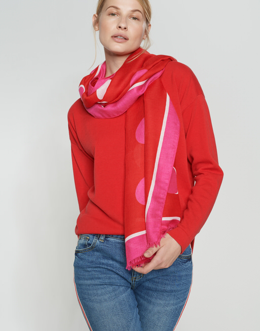 Sjaal Alani scarf true red