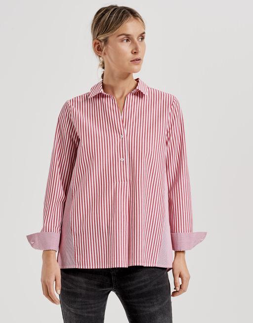 Gestreepte blouse Firini true red