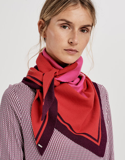 Doek Abiba scarf true red