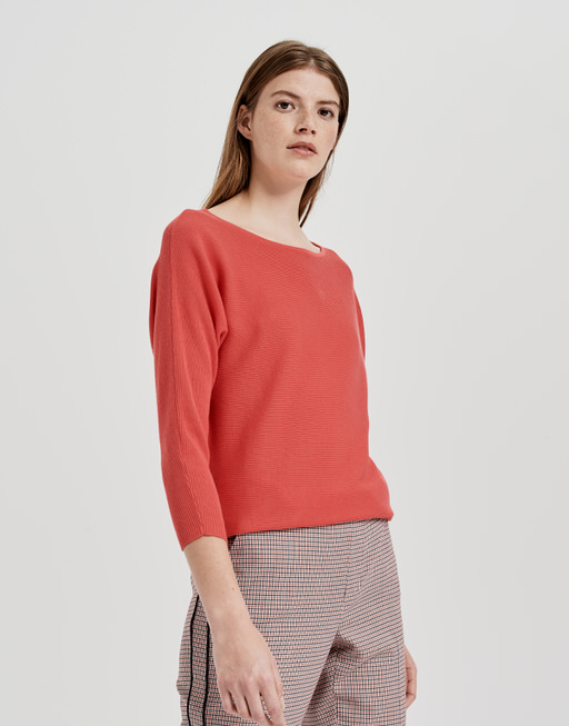 Baumwoll Pullover Pusine paradise red