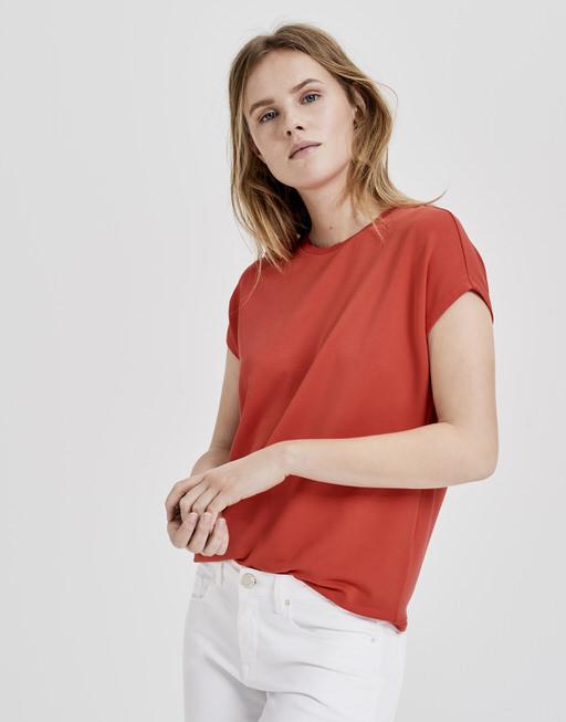 Shirt Sudella scallop paradise red