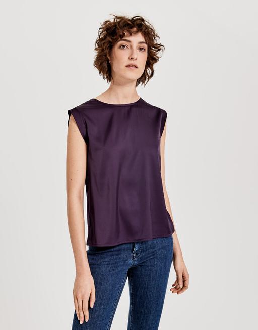 Shirtbluse Fabiole dark violet